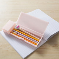 2015 New Design Poplular Plastic Wholesale Japanese Stype Pencil Case