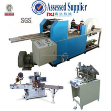 Mini pocket paper machine/Automatic folded & color printing handkerchief paper facial tissue machine