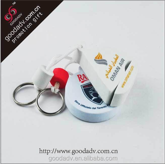Promotional 5mm thickness eva no minimum custom logo keychains