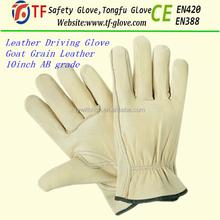 Goat skin leather working gloves / goat grain leather driving gloves / leather safety gloves