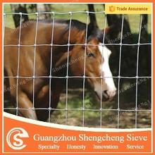 Cheap full galvanized horse farm fence/ hinge joint fence