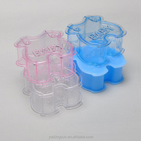 Sweet clothes shape wedding favor clear plastic red bean box