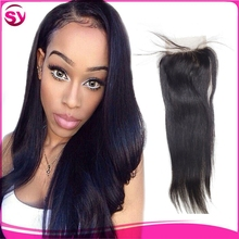 Hot Selling Top Quality Stock Brazilian Human Hair Lace Closure, 100 human hair lace closure