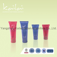 Hotel plastic cosmetic tube for Hair Cream/ plastic tube with screw cap 100ml hotel/silk screen cosmetic tubes