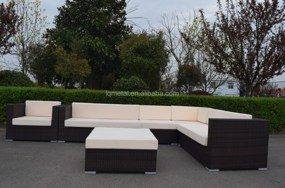 Modern Pe Rattan Sofa Fancy Outdoor Wicker Sofa Daybed Set ...