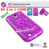 Hot Selling Cell phone 2 in1 case for Samsung Galaxy S4 I9500 PC+TPU Protector case
