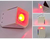 2015 Colorful mini wireless Led bluetooth speaker with phone App control led light for indoor decoration