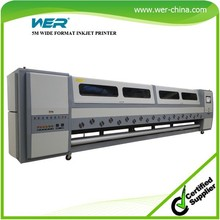Popular new design 5m,WER SD5308,8 heads large format ,digital vinyl printing machines