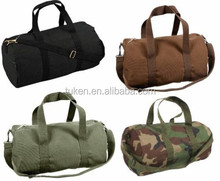 "19"" Canvas Sports Military Gym Shoulder Carry Duffle Bag With Strap"