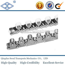 ANSI ISO standard short pitch conveyor simplex stainless steel top roller chain 60TR