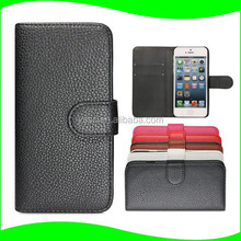 In Stock! Wholesale Alibaba PU Leather Wallet Case Stand Flip Cell Phone Case for APPLE iPhone 5