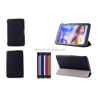 10 inch 3 folding tablet pc smart cover leather case for LG tablet