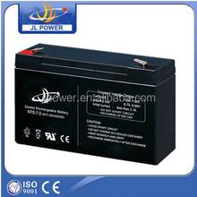 6V7AH rechargeable battery for solar energy systems, 6v7ah 20hr for solar light, solar panle.