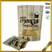 FDA food grade brown paper china tea packaging with transparent window