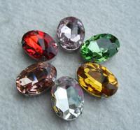 Hot sale rhinestone crystal oval shape 18*25mm sew on rhinestone with metal claw.free sample sew on beautiful beads rhinestone