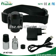 Remote control dog training spray collar JF-K718A Anti bark spray collar with Rechargeable lithium battery