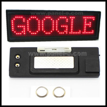 OEM manufacturing 12x48 dots single color small led display ,led name board