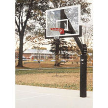 "Club Court Portable Basketball 36"" x 54"" Glass Backboard System"
