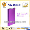 NK-D9800 Shenzhen manufacture power bank Utral slim power bank for blackberry z10