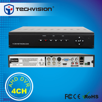 IPC/Analog/AHD Camera H 264 Standalone DVR 720P/960H 4CH AHD DVR