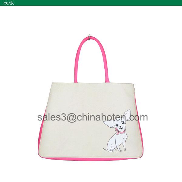 Eco-frienldy canvas pet dog bag
