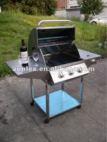 stainless steel balcony bbq grill design/ outdoor grill design with bbq tool set electric rotisserie motor/grill motor