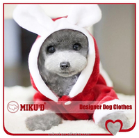 Wholesale Top Quality Christmas Santa Rabbit costume, dog Christmas coat, dog clothes for Christmas rabbit
