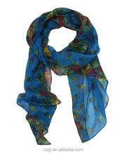 Fashion Soft Paris Yarn With Flower Pattern Long Muffler Shawl Scarf Wraps Kobwa's Keyring