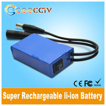 UPS DC-9800mAh rechargeable lipo4 12V small lithium polymer battery with power Indicator for Christmas Lights Factory Supply