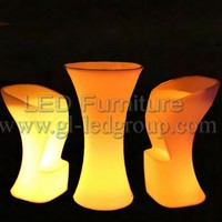 Flashing Led Coffee Table Highboy Led Furniture For Coffee House Event Festival