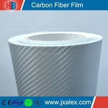 TQ-0218/120um,140g/1.52*50m/Bubble Free,PVC Matte 3D Decorative Silver Carbon Fiber Sheet Adhesive Wholesale For Car Wrap