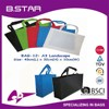 2015 promotional new product laminated reusable foldable non-woven shopping bag