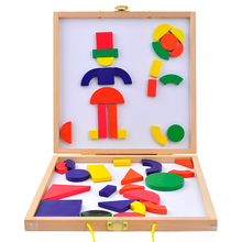 Montessori Wooden Toys Magnetic Intelligent Folding Puzzle Board Educational Toys for Wholesale