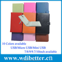 7 inch Universal Tablet Keyboard Cover Case For Coby 7inch Android Tablet