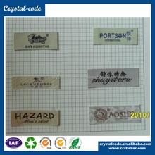 Newest satin taffeta charm soft various woven label for garment