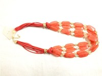 Wholesale red bead necklace/ruby bead necklace