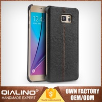 QIALINO Super Thin Leather Ultrathin Case For Samsung For Galaxy Note 5 Real Leather Make To Order Stitching