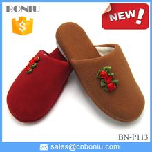 new design warm polar fleece winter indoor slipper