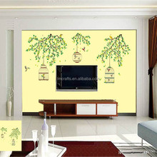 olesale green branches cage wall environmental protection can remove bedroom living room TV background decoration JM7259