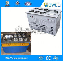 China hot sale single square pan fry ice maker with six buckets