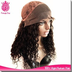 wholesale human hair wigs curly brazilian hair lace front front wig with bun