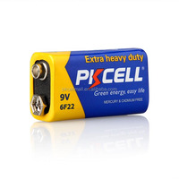 Long lasting 9v dry cell battery 1PC/PK and with battery box packed for Safety shipping