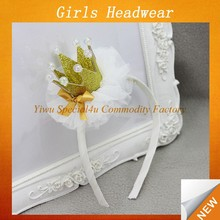 top baby headband/girls crown headband/baby crown headband SFUH-087