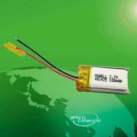 3.7v 100mah 401425 small smart swatch battery