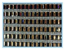 Clear Rhinestone 5*10mm rectangle crystal 24*40cm Rhinestone Mesh trimming for Garment accessories