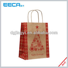 Merry Christmas kraft paper bag for hot sale in China