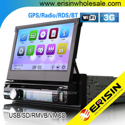 "Erisin ES7901M 7"" Single Din Car GPS Navigation System with WiFi 3G"