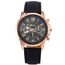 Cheap Price Double Literally Leather Watches Geneva Leather Watch Romanization Watch