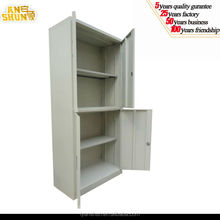 iron & glass 4 doors lockable storage cupboard / tall steel 4 doors office storage cabinet