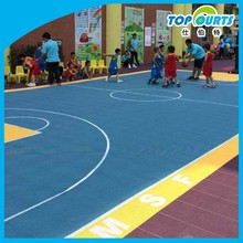 SGS certificated colorful kids mini basketball court flooring